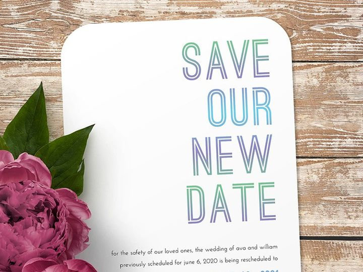 Tmx Save Our New Date 51 1188 159269860984037 Alexandria, VA wedding invitation