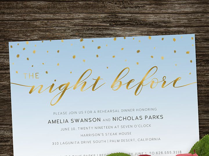 Tmx Starry Night Before Rehearsal Dinner 1 51 1188 Alexandria, VA wedding invitation