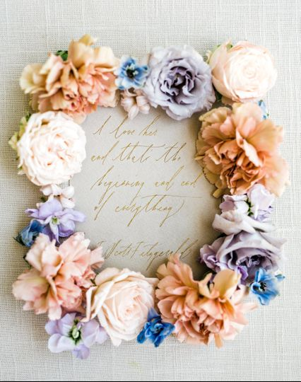 Flower decoration for the invitation