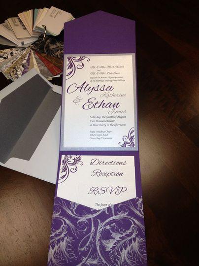 Purple Modern Invitations