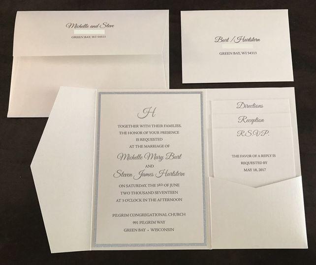 Shimmery Elegant Invitations