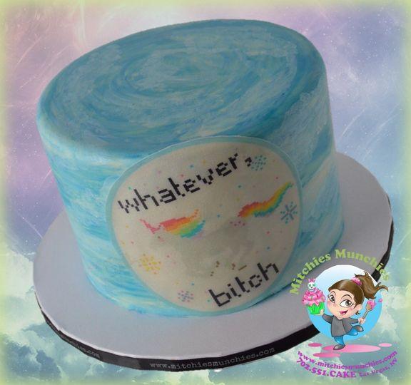 whatever bitch birthday cake mitchies munchies las