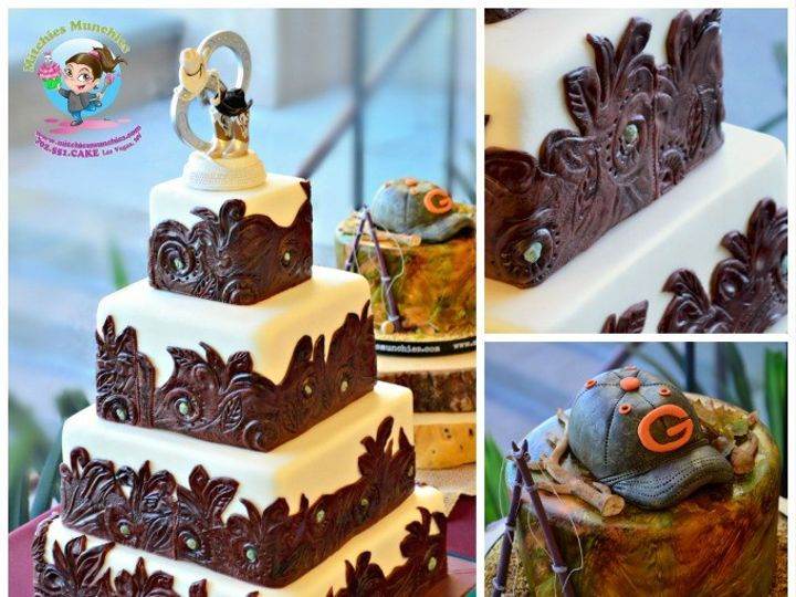 Tmx 1447483346389 Stampedleatherweddingcakelasvegasmitchiesmunchies6 Las Vegas wedding cake