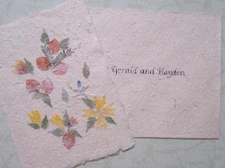 Tmx 1211859498273 447 Handmade Invitation 4 Caledonia wedding invitation