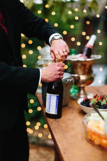 Wine opening | Photo by Elizabeth Large Photography