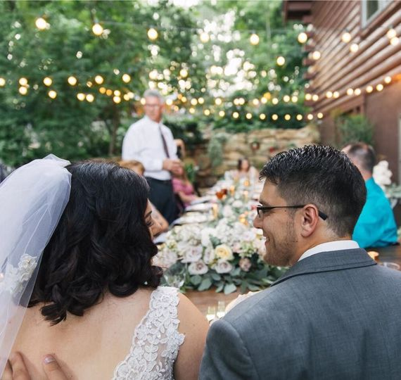 Couple looking at each other | Elizabeth Large Photography