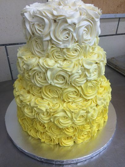 Ombre yellow cake