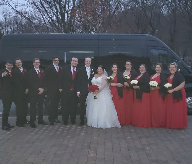 Bridal Party and Limo Van
