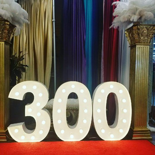 300 number design illuminated