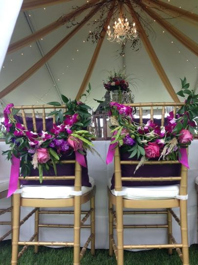 Chair floral design