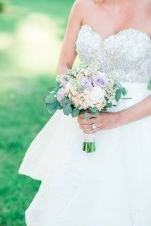 Soft, dreamy colors for a July outdoor wedding!