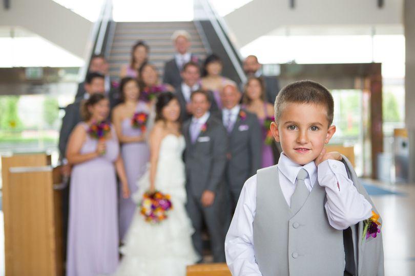 wedding bridal party children