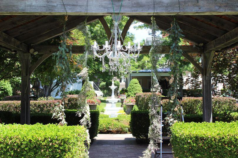 chandelier in gazebo