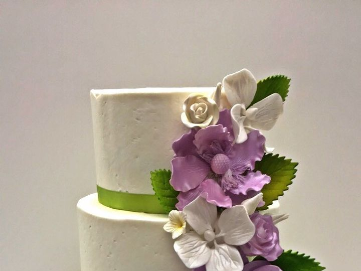 Tmx 1502464028501 Floral Cake2 Northborough, Massachusetts wedding cake