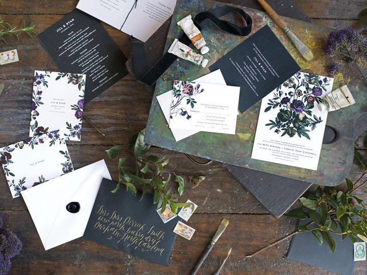 Tmx 1444241208713 Romantic Victorian Flower Wedding Invitation Durham wedding invitation