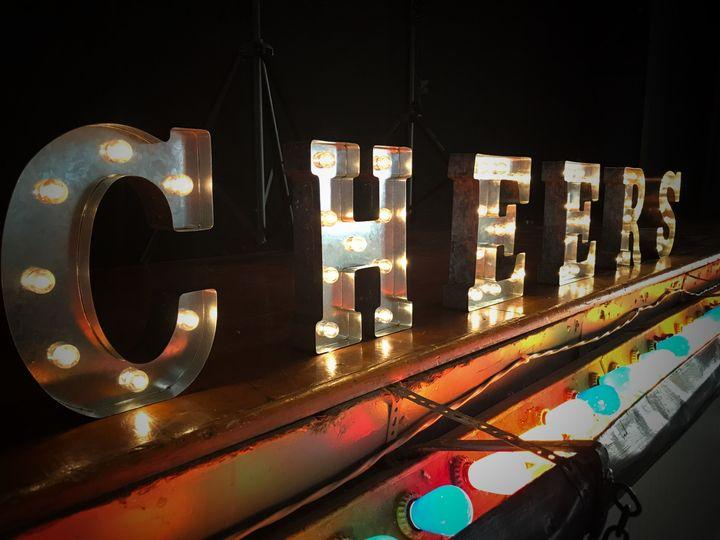 Wedding Recp. Venue DJ Stage Area Lighting