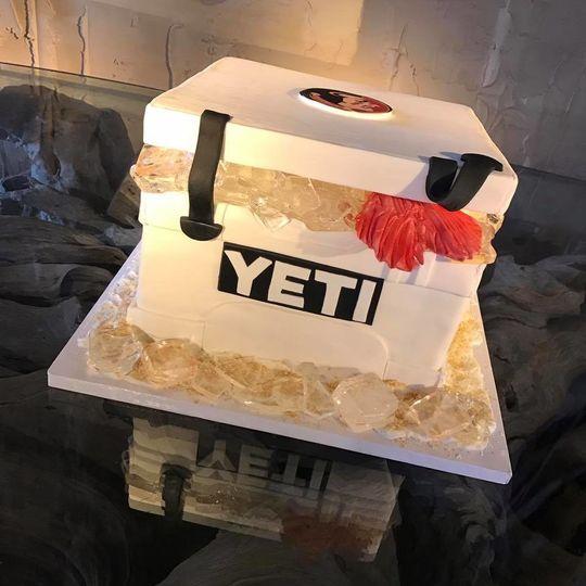 yeti cooler cake