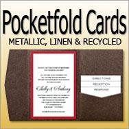 Pocket Fold Invitation Cards