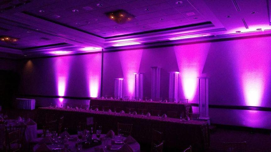 Pink uplights