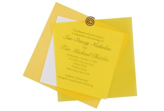 This vibrant vellum invitation made with imported Gmund papers sets the tone for any event. Easily...