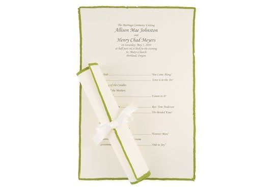 This beautiful scroll paper makes the perfect wedding program! Featuring an elegant hand-painted...