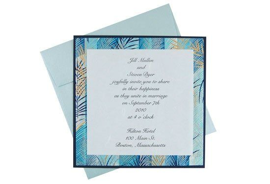 This vibrant layered invitation features a heavyweight textured backing card, a layer of colorful...