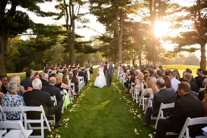 Ceremony at the pine trees