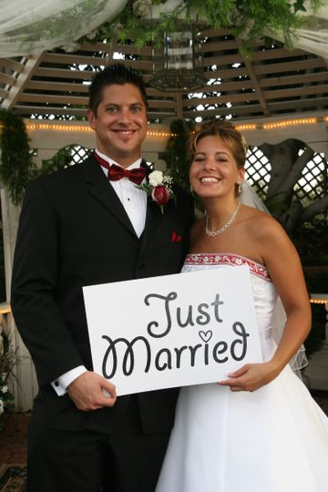 aaron robin just married pic for wedding wir