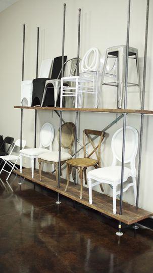 Showroom chair display