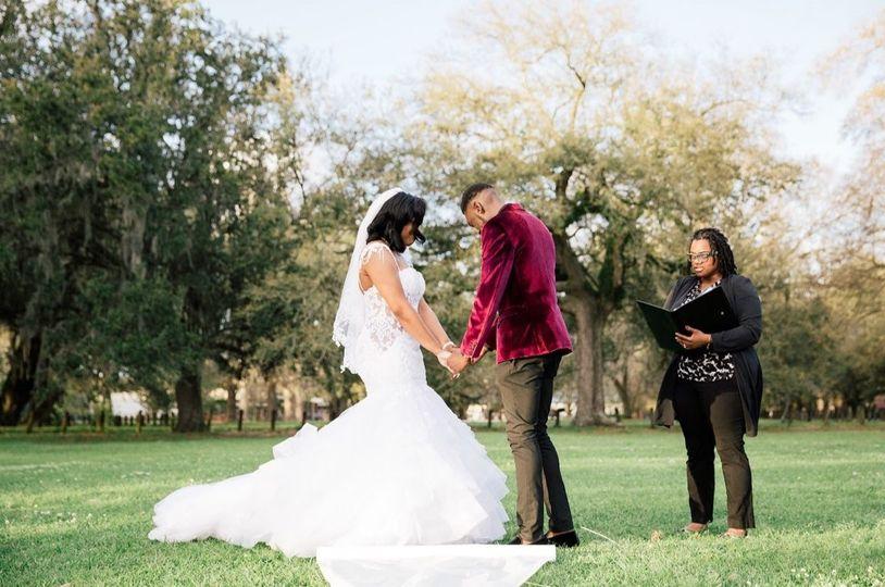 Couple in prayer with LaToya