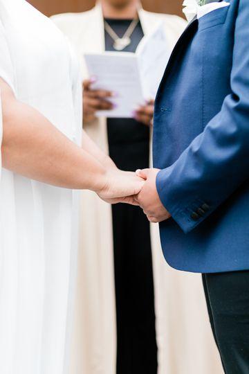 Couple at the altar w/ LaToya