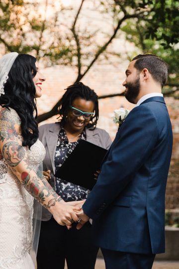 Happy ceremony moments