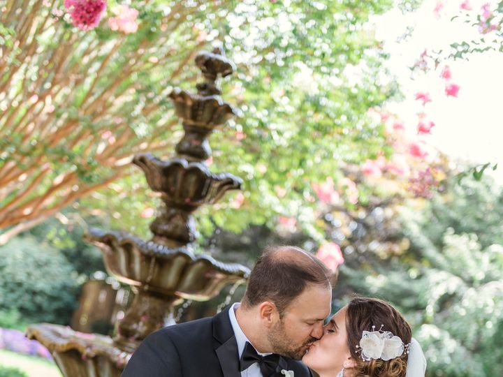 Tmx 1478118895520 Bride And Groom Kissing In Front Of Fountain Columbia, MD wedding dj