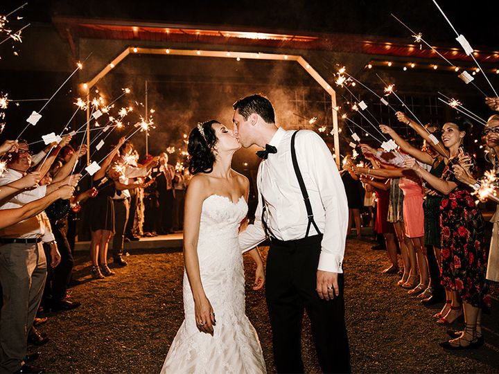 Tmx 1478539346751 Bride And Groom Kiss During Sparkler Exit Columbia, MD wedding dj