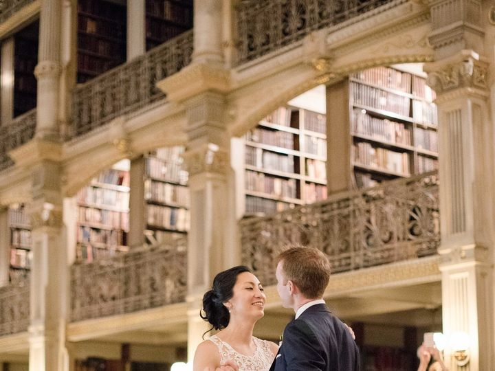 Tmx 1493243244611 Bride And Groom First Dance At Peabody Library Columbia, MD wedding dj