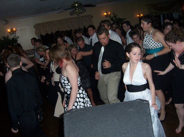 A crowd of dancers at one of our NC Weddings.