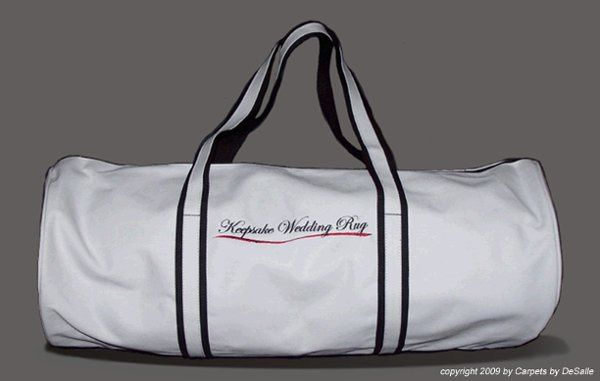 This is a quality carrying case for your Keepsake Wedding Rug.