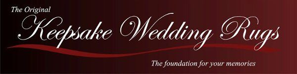 Look for the Keepsake Wedding Rugs logo.