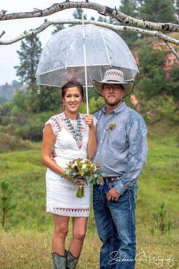 Ranch Wedding in the Rain