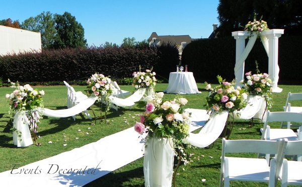 Events Decorated - Outdoor Wedding Ceremony
