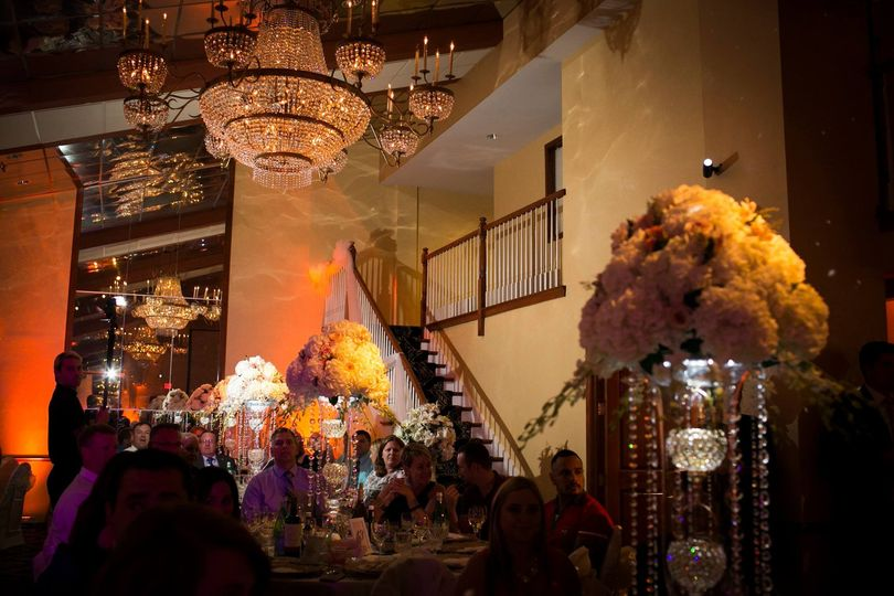 Radiant crystal chandeliers