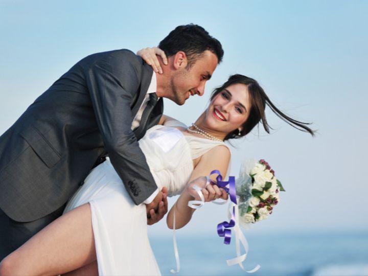 Tmx 1476124733445 Man And Woman On Beach Dipping Her Waukesha, Wisconsin wedding travel