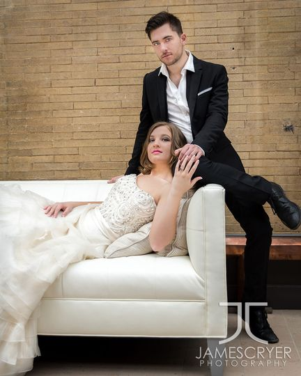 Contemporary, Modern, and a bit of Vogue styling for this young, urban couple.