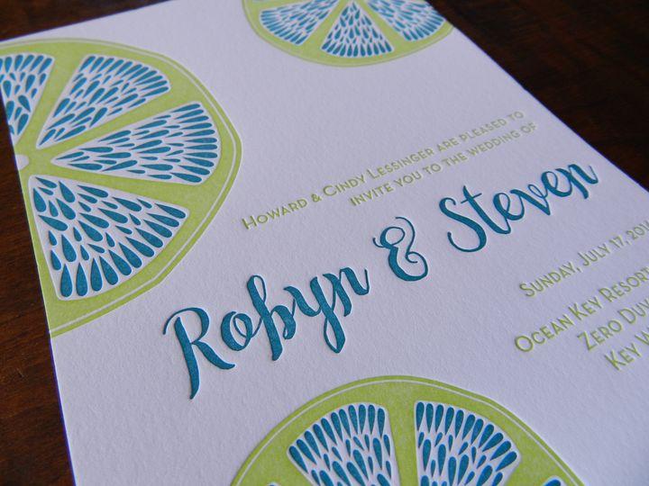 Embose blue lettering