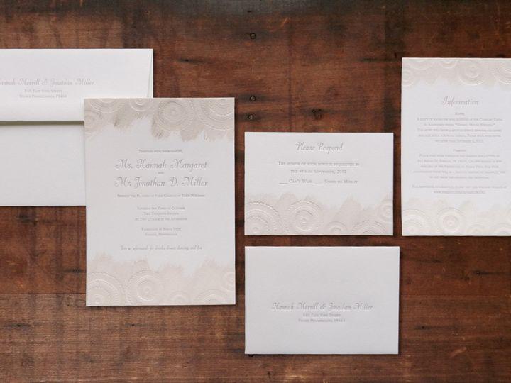 Tmx 1443455614232 Hannahletterpressinvitations Lancaster, PA wedding invitation