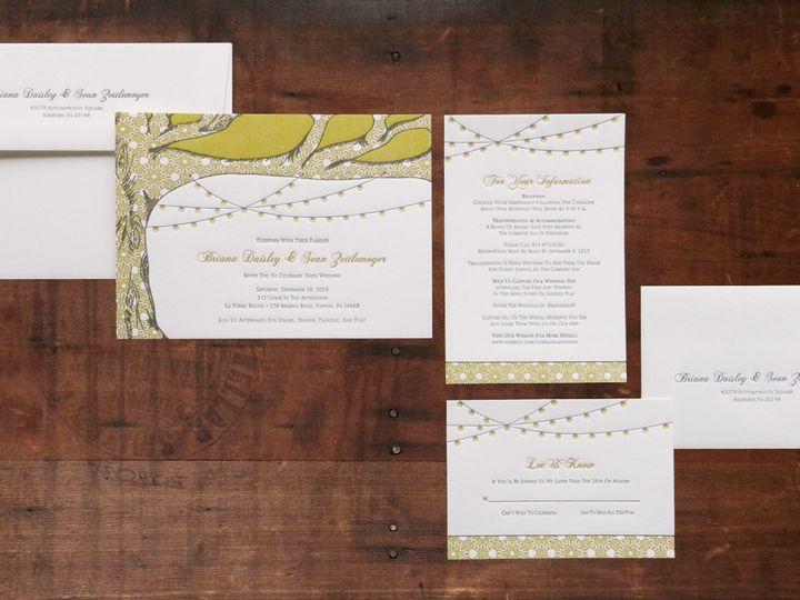 Tmx 1443455634514 Seanbriletterpressinvitations Lancaster, PA wedding invitation