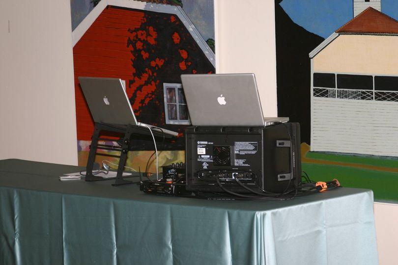 One of Many DJ setups