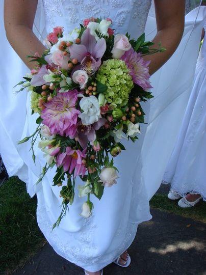 bride holding flower