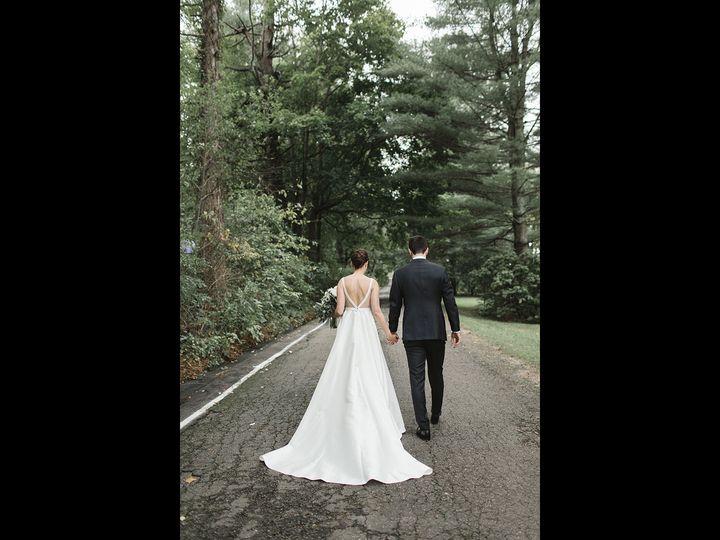 Couple walks back to main inn