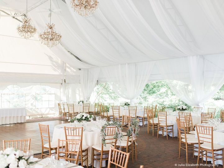 Our new draped wedding tent